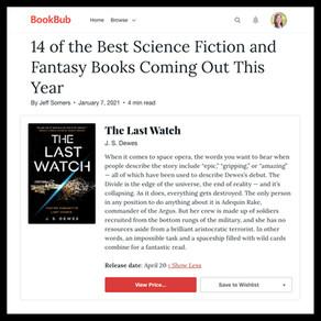 Publishing Quest » The Last Watch, BookBub 14 Best Sci-Fi & Fantasy coming in 2021