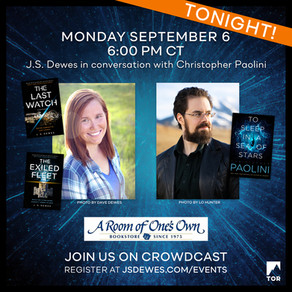 Events » The Exiled Fleet Launch Event, in Conversation with Christopher Paolini