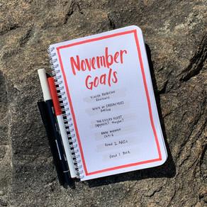Tactical Bujo » November Goals