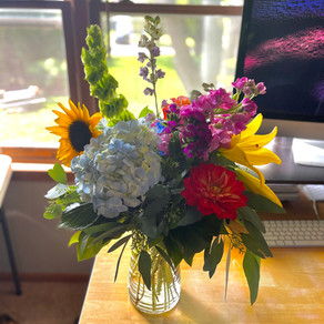Birthday Flowers + Bonus Dogs