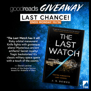 Publishing Quest » The Last Watch ARC Giveaway Last Chance!