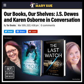 Article » The Mary Sue, Our Books, Our Shelves: J.S. Dewes and Karen Osborne in Conversation