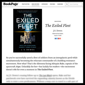 BookPage Review for The Exiled Fleet