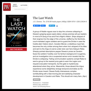 Publishing Quest » The Last Watch's First Trade Review!