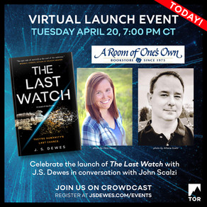 Events » The Last Watch Launch Day Event in Conversation with John Scalzi