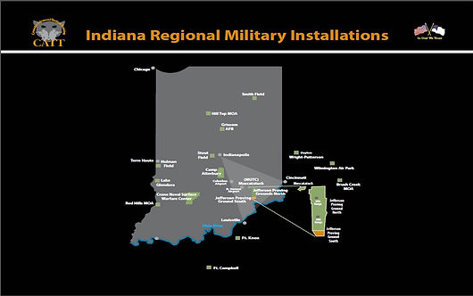 tactical training schools, military training schools, camp atterbury, muscatatuck, jefferson proving grounds, map, indiana military installations