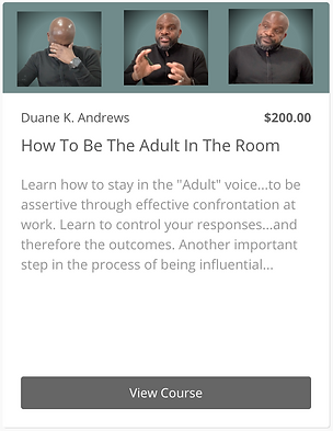 How To Be The Adult in the Room - Widget