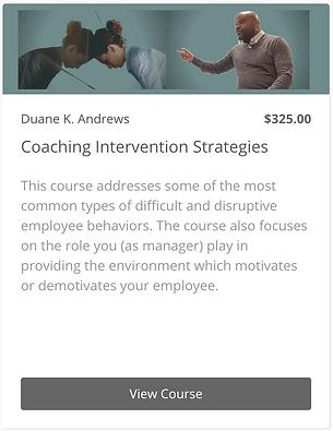 Coaching Intervention Strategies - Widge