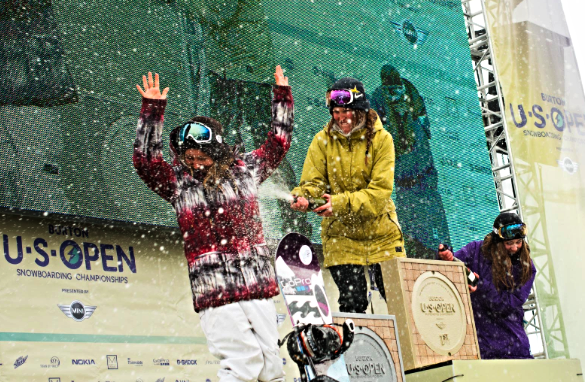 3rd Place Podium Burton US Open