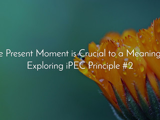 Why the Present Moment is Crucial to a Meaningful Life: Exploring iPEC Principle #2