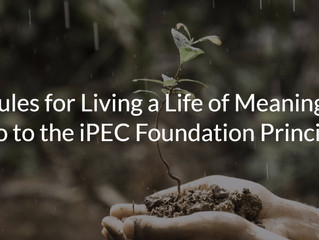 Rules for Living a Life of Meaning: Intro to the iPEC Foundation Principles