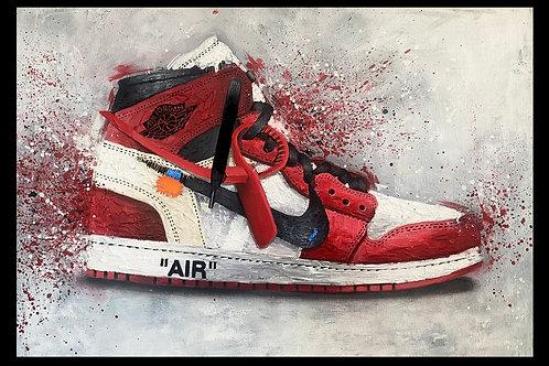 Off White Jordan 1 Print (A3)