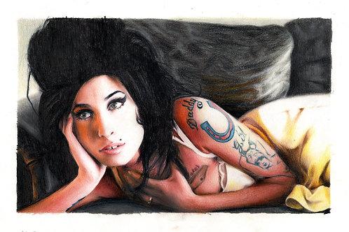 Amy Winehouse (Original Drawing)