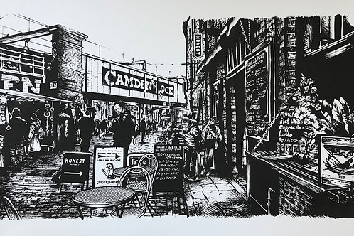 Camden Lock Black A2 (limited screen print)