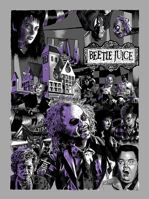 Beetlejuice A2 Giclee Print