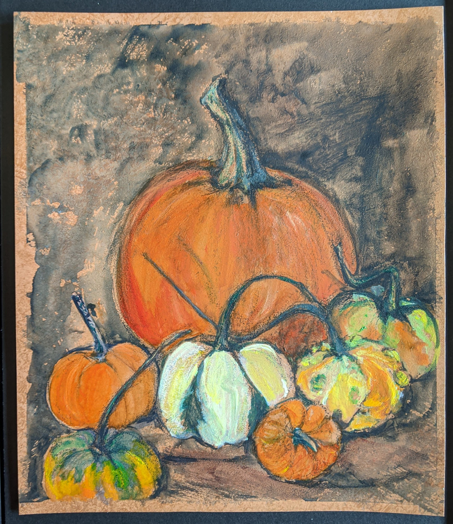 Still Life with Gourds