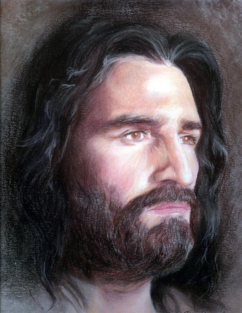 """""""Jesus"""" 11""""x14"""" pastel"""