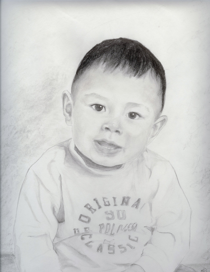 commissioned charcoal portrait