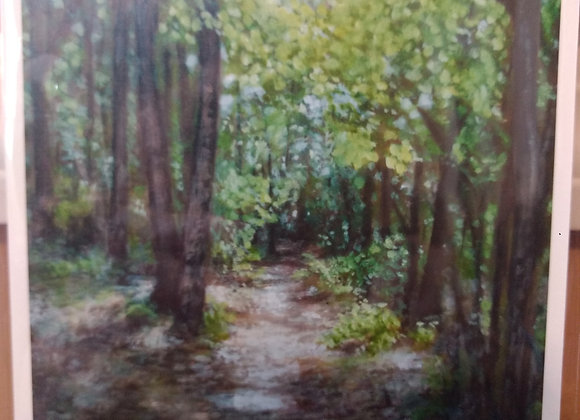 """Wooded Path"" 5""x7"" limited print"