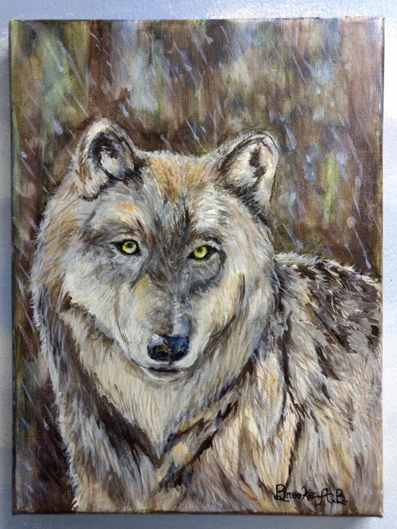 """""""Wolf in the Rain"""" Brooke A.B. (M.B. Hetzel)"""