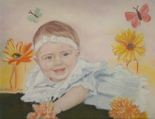 commissioned pastel portrait