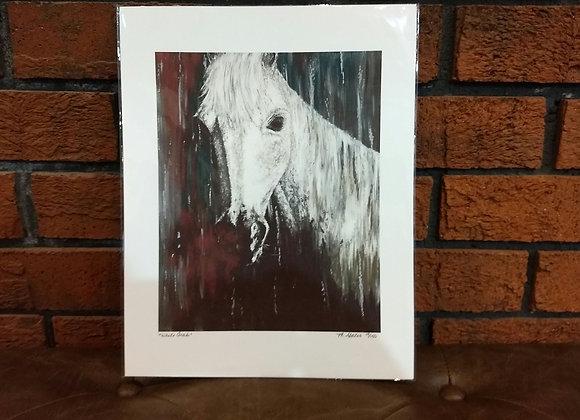 """White Arab"" art print"