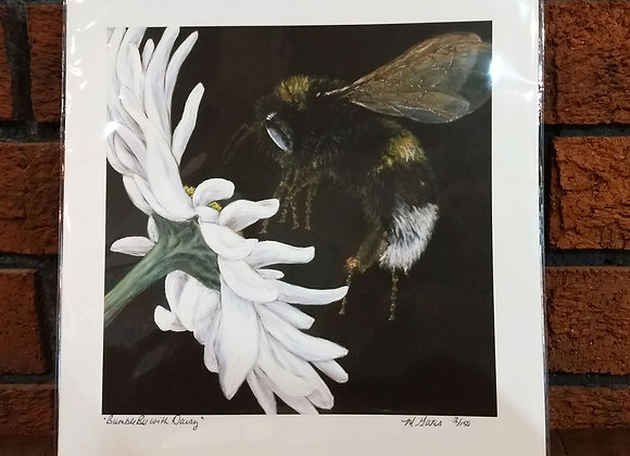 Bumble Bee with Daisy art print