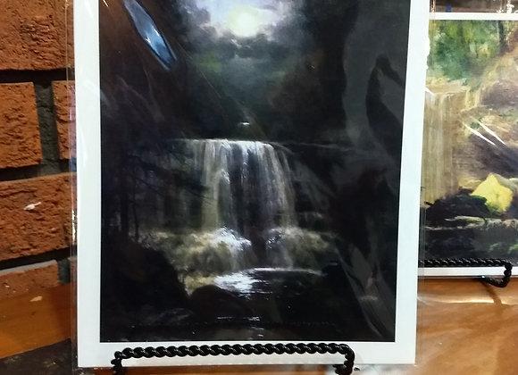 """""""Waterfall"""" (nocturne)  George Hetzel  1887"""