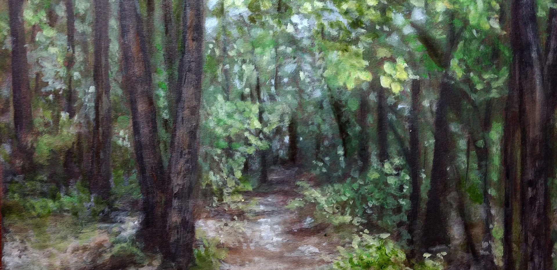 """Wooded Path"" M.B. Hetzel"
