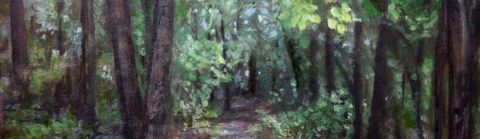 """Wooded Path"" M.B. Hetzel"