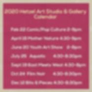 HS&G 2020 calendar