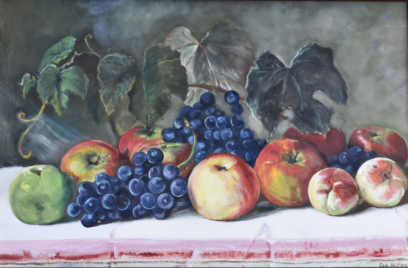 """""""Morning Fruit"""" oil still life"""