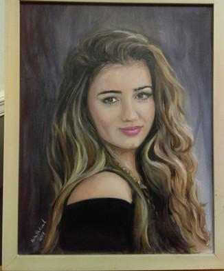 commissioned oil portrait