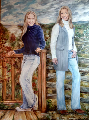 """""""North & South"""" commissioned oil portrait"""