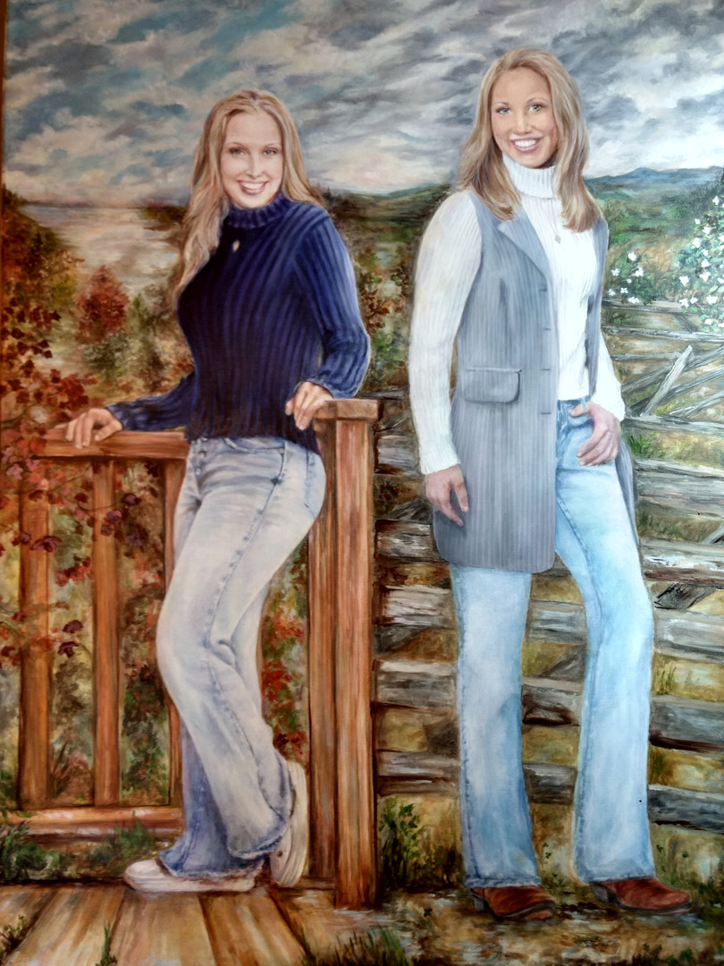 North & South commissioned oil portrait