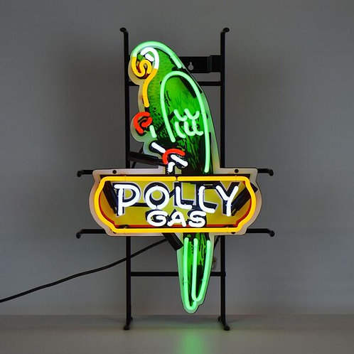 Polly Gas Parrot Neon Sign
