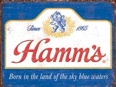 Hamm's Beer Metal Sign