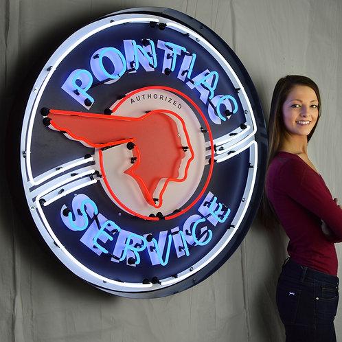 """Pontiac Service 36"""" Round Neon Sign"""