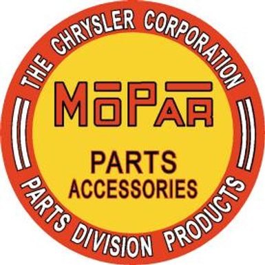 Round Mopar Parts/Accessories Metal Sign