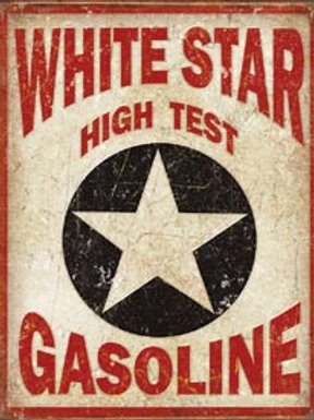 White Star High Test Metal Sign