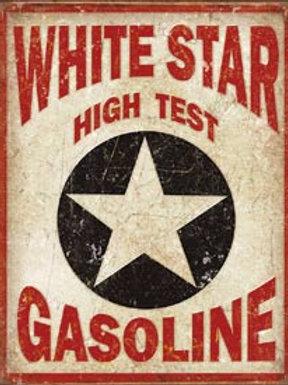 White Star High Test Metal Sign