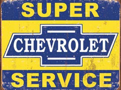 Super Chevrolet Svce. Metal Sign