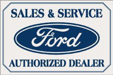 Ford Sales/Svce. Metal Sign