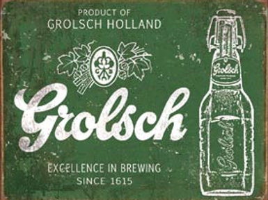 Grolsch Beer Metal Sign