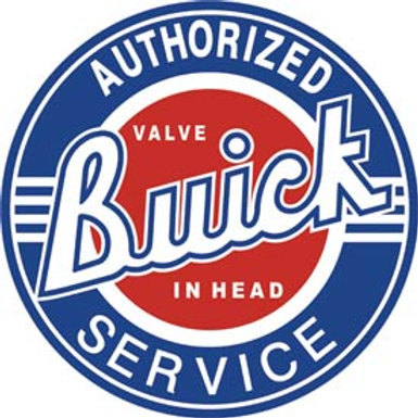 Round Authorized Buick Svce. Metal Sign