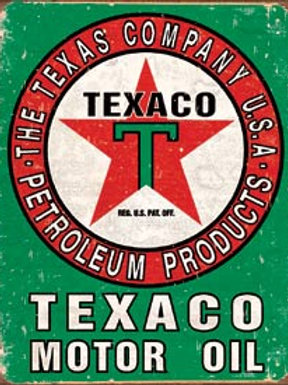 Texaco Red/Green Metal Sign