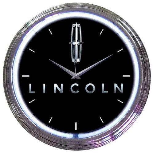 Lincoln  Neon Clock