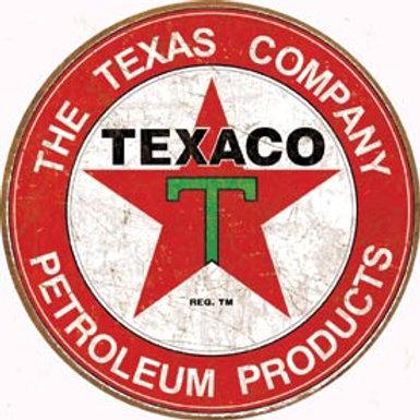 Round Texaco Petrolium Product Metal Sign