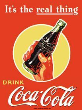 Drink Coke Hand/Bottle Metal Sign