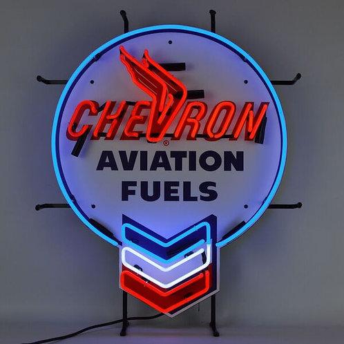 Chevron Fuel Neon Sign